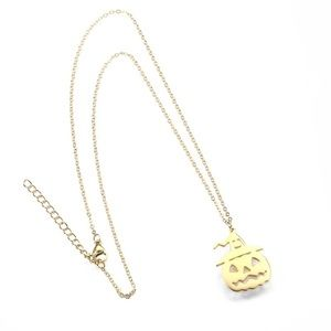 fancy fashions Jewelry - 18K Gold Vacuum Plated pumpkin 🎃 necklace